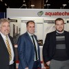Mike Thomas (left) and Steven Thomas (r) of aquatechnik® North America with Marco Petenà, managing director and founder of aquatechnik® group sp.